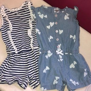 Carters Set of 2 6 Month Rompers